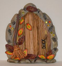 Falling Leaves Fairy Door Fairy Garden Fairy Decor by sewaddictd