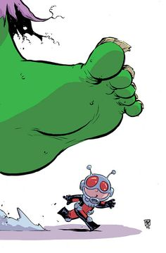 #Hulk #Fan #Art. (The Astonishing Ant-Man #1 Cover) By: Skottie Young. (THE * 5 * STÅR * ÅWARD * OF: * AW YEAH, IT'S MAJOR ÅWESOMENESS!!!™) ÅÅÅ+