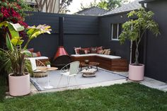 patio, DIY built-in seating