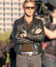 Ryan Gosling Song to Song Jacket - Movie Clothiers Ryan Gosling Drive, Ryan Gosling Style, Men's Style Icons, Leather Jackets For Sale, Trench Coat Men, Man Crush Everyday, Fall Outfits For Work, Shearling Jacket, Hot Guys