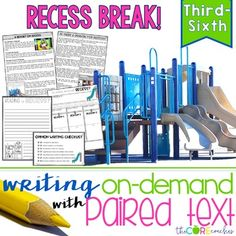 Read these perfectly paired texts on a topic they actually WANT to write about---RECESS!