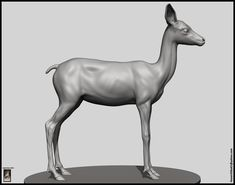 ArtStation - Fawn Deer, Hossein Diba