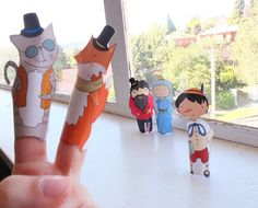 Pinocchio Hand Drawn Paper Finger Puppets By Curmilla di Curmilla Pinocchio, Activities For Kids, Crafts For Kids, List, Puppets, Have Fun, How To Draw Hands, Fox, Fairy