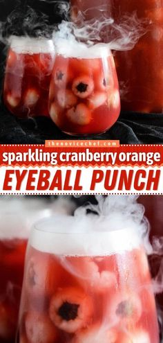 A Halloween treat for all ages! This easy punch recipe is perfect for a party. Everyone will love this cranberry and orange-flavored alcoholic drink with blueberry-stuffed lychee eyeballs. Add vodka… Halloween Punch, Halloween Drinks, Halloween Party Decor, Halloween Treats, Breakfast Punch, Easy Family Meals, Family Recipes, Halloween Breakfast, Easy Punch Recipes