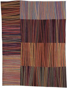 Abstract Contemporary Textile Painting / Art Quilt - by Lisa Call Textile Fiber Art, Textile Artists, Contemporary Quilts, Quilt Modern, Textiles, String Quilts, Traditional Quilts, Aboriginal Art, Lisa
