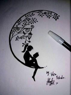 Quotes For Art Sketches Zitate Für Kunstskizzen - Image Upload Services Doodle Art Drawing, Girl Drawing Sketches, Girly Drawings, Art Drawings Sketches Simple, Pencil Art Drawings, Tattoo Drawings, Art Sketches, Tattoo Sketches, Drawing Ideas