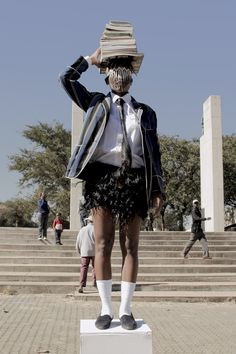 Sethembile Msezane is a visual artist whose performances subvert colonialist ideologies and highlight the history of black women in South Africa. Youth Day, South African Artists, Art Competitions, Creative Industries, Female Bodies, Riding Helmets, Black Women, Instagram, Regional