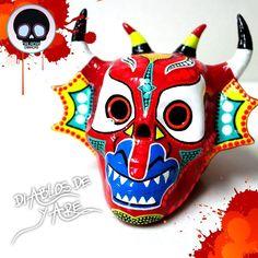 Nuestras Calacas se visten de diablos en homenaje a nuestro patrimonio cultural intangible de la humanidad.  #CalacasCaracas  Pedidos vía whatsapp [ver perfil]