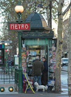 The Paris Metro is supposed to be very efficient. It is and it is quite beautiful and a great way to get around. This little vignette is so typical of what you really see - even to the little doggie!