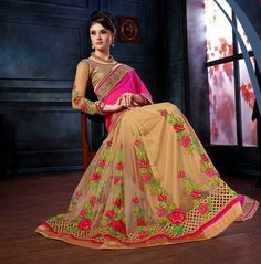 Buy Magenta Georgette Wedding Saree 63588 with blouse online at lowest price from vast collection of sarees at Indianclothstore.com.
