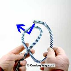 Tie a lasso: Begin with an overhand knot