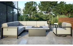 Gracie Aluminum Sectional Outdoor Sofa Collection