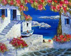 Duaiv (b. 1952). Greek Island