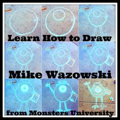 Learn how to draw Mike Wazowski: di.sn/tEs