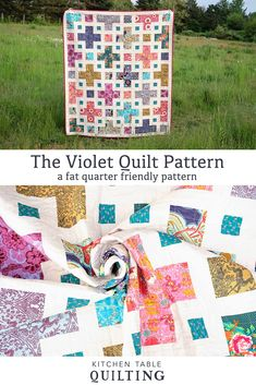 The Violet Quilt Pattern - Kitchen Table Quilting Twin Quilt Pattern, Twin Quilt Size, Pattern Paper, Craft Books, Book Crafts, Pdf Patterns, Quilt Patterns, Picnic Blanket, Outdoor Blanket