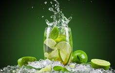 Wallpaper lime, citrus, fruit, green, glass, water wallpapers ...