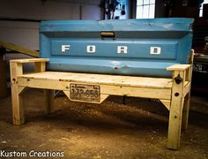 benches made from truck tail gate - Bing Images