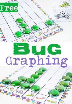 Free Printable Bug Graphing Dice via @lifeovercs