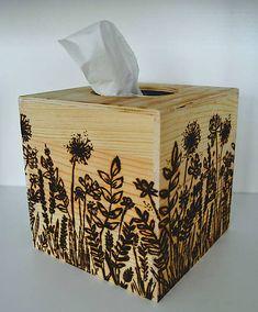 vyrobkyprestastie / kocka na servítky - rozkvitnutá lúka Tissue Holders, Facial Tissue