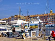 Travel to St Tropez in the South of France - most glamour places of French Riviera. Bets way to make a trip to St Tropez is by boat during summer season.