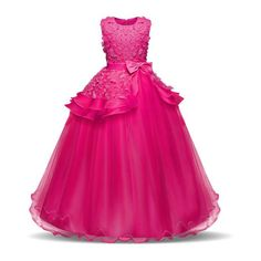 NNJXD Halloween Party Dress for Girls in Tulle with .- NNJXD Vestito da Festa di Halloween per Ragazze in Tulle con Fiori per Bambini Anni NNJXD Halloween Party Dress for Girls in Tulle with Flowers for Children Years and girls and dressing gowns full - Kids Prom Dresses, Cute Dresses For Party, Girls Party Dress, Pageant Dresses, Pageant Girls, Lace Ball Gowns, Ball Gown Dresses, Tulle Dress, Dress Lace