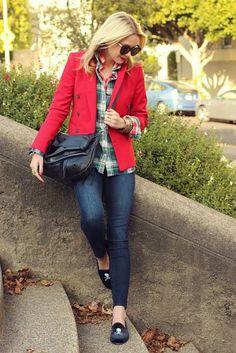 Atlantic Pacific con blazer rojo | Petite Girl