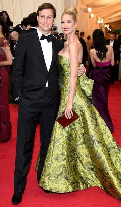 Jared Kusher and Ivanka Trump at the 2014 Met Gala