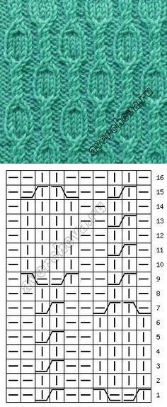 Узор 708 | каталог вязаных спицами узоров | Узоры схемы МК | Постила