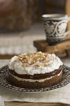 Tarta sin HORNO de Chocolate y Cacahuete Saludable