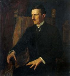 Tesla's portrait – Blue Portrait, 1916, painted by then-Hungarian princess, Vilma Lwoff-Parlaghy. Tesla was 6 ft 2 in (1.88 m) tall and generally weighed 142 pounds (64 kg). Although many of Tesla's progenitors were dark-eyed, his eyes were gray-blue. He claimed that his eyes were originally darker, but as a result of the exorbitant use of his brain, their hue changed. However, his mother and some of his cousins possessed gray eyes, so it can be inferred that the gray of his eyes was…