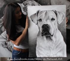 Dogo Argentino from France size 50x70cm