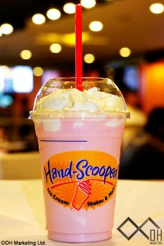 Hand Scoped Shake at Hardees.  These are the shakes I like to get.  It's homemade and their best!