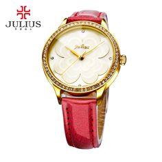 Luxury Brand JULIUS Fashion Ladies Leather Strap Quartz Watch //Price: $75.94 & FREE Shipping //     #hashtag2