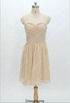 Champagne Bridesmaid Dress  Short Bridesmaid Dress / by DressHome, $85.99
