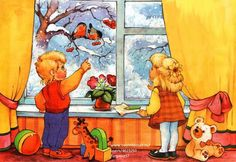 Drawing For Kids, Rubrics, Birds, Drawings, Spring, Winter, Painting, Fictional Characters, Worksheets
