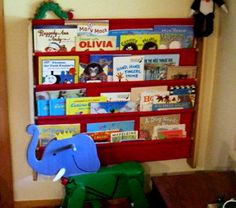 Tutorial: Canvas Pocket Book Shelf.   Need a bookshelf like this so the kids can see the books and put them away themselves.