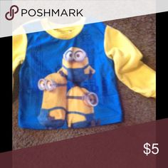 Minions Illumination This cute lil shirt is like new ..No rips or stains any kids will love to wear this shirt. Minions Other