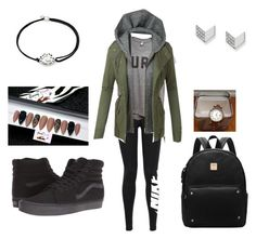 """""""Untitled #44"""" by chett3576 on Polyvore featuring NIKE, LE3NO, Vans, Alex and Ani and FOSSIL"""