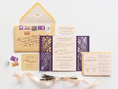 Oh So Beautiful Paper: Nicole + Patrick's Vintage-Inspired Lasercut Wedding Invitations