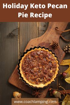 This low carb keto pecan pie recipe will make your holiday dinner a hit! This recipe is so much like the real thing that no one will know the difference. Stay in ketosis and still enjoy dessert.