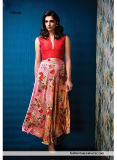 Huge collection of latest arrival gowns & dresses. Customize your order. Place order online for this exquisite georgette red designer gown. World wide free shipping.