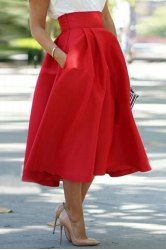 Solid Color Asymmetric Fashionable Skirt For Women (BLACK,ONE SIZE(FIT SIZE XS TO M)) | Sammydress.com Mobile