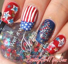 @prettygirltips 20  Patriotic Nail Art Designs To Try At Your Fourth Of July Party