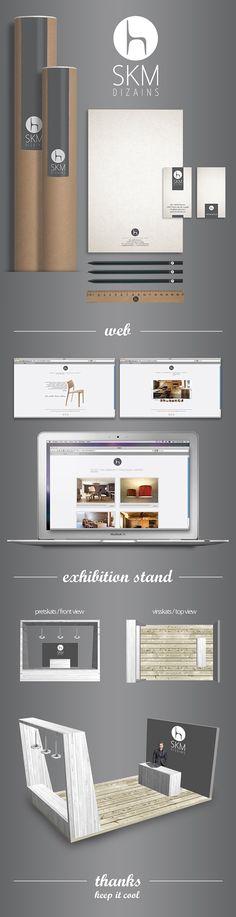 SKM dizains - furniture design and carpentry - branding on Behance