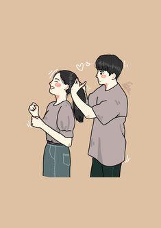 Love Cartoon Couple, Cartoon Girl Images, Cute Love Cartoons, Cartoon Art Styles, Girl Cartoon, Cute Couple Drawings, Cute Couple Art, Anime Couples Drawings, Cute Drawings