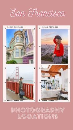 Guide to more than 45 San Francisco photography locations. Some of them are familiar iconic landmarks and others are hidden gems known by locals. California Camping, California Vacation, Visit California, San Francisco Travel Guide, San Francisco Vacation, San Francisco Photography, Amazing Photography, Urban Photography, United States Travel