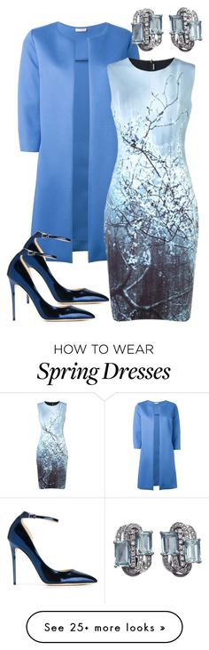 """Spring wedding guest"" by natalie53-1 on Polyvore featuring P.A.R.O.S.H., Elie Tahari and Jimmy Choo"