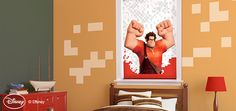 Disney Wreck it Ralph Cordless Roller Shades Custom Blinds and Shades By SelectBlinds.com