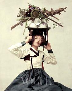 Hanbok, Vogue Korea Photography by Ogh Sang Sun Asian Fashion, Fashion Art, Editorial Fashion, Fashion Terms, Japanese Fashion, Vogue Korea, Korean Traditional Dress, Traditional Dresses, Korean Dress