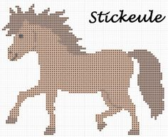 Stickeules Freebies cross stitch  horse